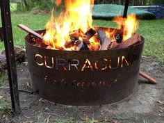 Custom name metal fire pit! I would love this in my future back yard!