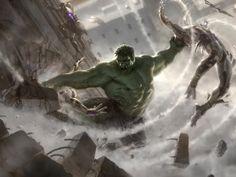 Papel de Parede Gratuito de Filmes : Os Vingadores - Arte Conceitual (Hulk)