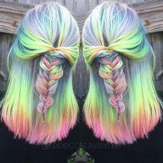 2017 Unicorn & Pastel Hair Color Ideas
