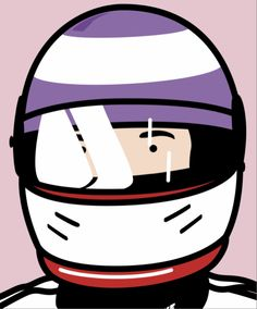 Julian Opie - Olivier, racing driver (with helmet)