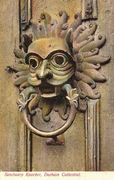 Durham cathedral knocker I WILL be making one of these very soon; Durham England, North East England, Durham City, St Johns College, Durham Cathedral, History Books, Local History, Door Knobs And Knockers, Watercolor Architecture