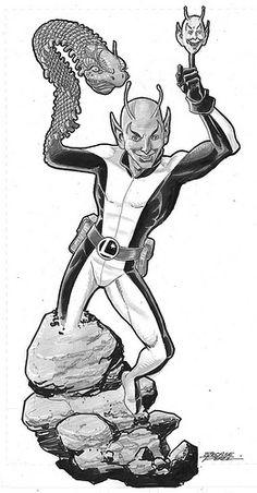 Chameleon Boy - Legion of Super-Heroes commission by George Perez Fantasy Comics, Fantasy Fiction, Comic Art, Comic Books, Legion Of Superheroes, George Perez, Classic Comics, Dc Characters, Dc Heroes