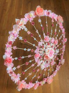 Sneak-a-Peek Parasol Floral Wedding Umbrella Custom Bridal