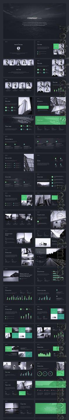 Company Profile PPTX Company Profile, Light In The Dark, Photoshop, Designers, Graphics, Unique, Creative, Free, Graphic Design