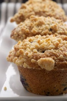Blueberry crumb muffins.