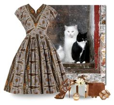 """Cats at my window"" by whiteflower7 ❤ liked on Polyvore featuring INC International Concepts, Paul Andrew, MAC Cosmetics, House of Sillage and plus size dresses"