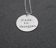 Hand Stamped Jewelry Made In Michigan Necklace by Kristen's Custom Creations