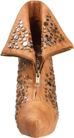 #Shoes: Penny Loves Kenny Womens Majori Ankle Boot - Buy New: $48.47 - $103.49 : Penny Loves Kenny brings you Marjorie, a hip bootie featuring a smooth olive upper with a 1 inch concealed platform and 5 inch heel. This style showcases an array of mixed metal studs through out the trendy folding vamp. A functional zipper completes this show stopper!