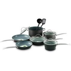 GreenLife 12-Piece Non-Stick Gourmet Hard-Anodized Cookware Set
