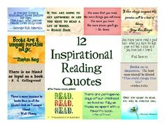 for classroom library area-12 Inspirational Quotes for Reading