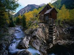 the Old Mill at Marble, White River National Forest, Colorado