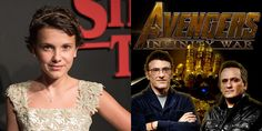 Vingadores: Guerra Infinita: Millie Bobby Brown aparece no set ao lado dos diretores do filme