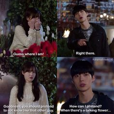 Blood | Ep. 15 - Ri Ta wanted to act like the cheesy couple they saw a few moments ago, even though Ji Sang refuse to. Ji Sang didn't reply like he was suppose to, but instead, gave her chills with his reply. - This was adorable..