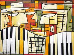 Music art on canvas