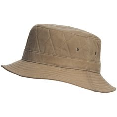 2a49356c913 Woolrich Bucket Hat - Cotton Oilcloth (For Men) in Tan Mens Bucket Hats