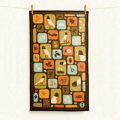 robin tea towel. $18.00, via Etsy.