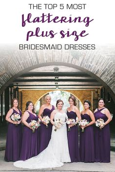 5 flattering dresses that are perfect for plus size bridesmaids!