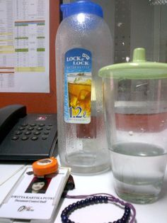 1,2 liters of mineral water a day.. keep healthy! :-)