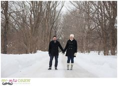 Winter Engagement Session.  www.mrdrewphotography.com Ipswich River Wildlife Sanctuary, Topsfield MA