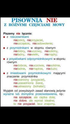 Aa School, School Notes, Humor Videos, Learn Polish, Teacher Morale, Polish Language, Gernal Knowledge, Language School, School Hacks