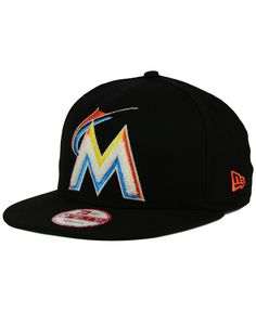 421deb5d8a6 New Era Miami Marlins The Letter Man 9FIFTY Snapback Cap