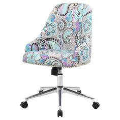 Carnegie Desk Chair - Paisley - Boss, Black