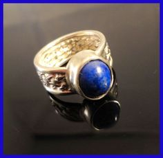 Celtic Woven, Lapis Gemstone Ring, Handmade Sterling Silver SZ-7 #Handmade #CelticWoven