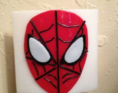 Spider-Man  Fused Glass Night Light