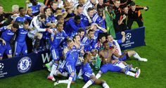 Chelsea stunned Bayern Munich to win the Champions League for the first time as Didier Drogba struck the decisive blow in a penalty shootout at theAllianz Arena following a tension-soaked final which ended 1-1 after extra time on Saturday.  Drogba, who had equalised for Chelsea two minutes from the end of normal time, rolled the winning kick past