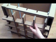 My cardboard chest of drawers - YouTube