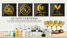 Forever living products are halal and kosher certified. We also have the aloe vera sign of approval because we have such a high content of aloe and do not test on animals. Shop online www.gerborah-forever.myforever.biz/store