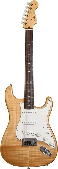 Fender Custom Shop Custom Deluxe Flame Top Stratocaster - Aged Natural   Sweetwater.com