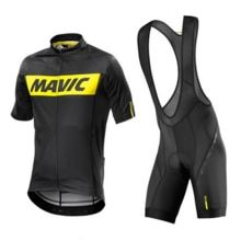 2018 PRO TEAM Mavic SHORT SLEEVE CYCLING JERSEY SUMMER CYCLING WEAR ROPA  CICLISMO bib SHORTS 9D gel pad set 3df714581