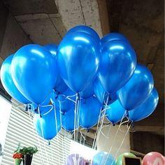 гелиевые шарики синий металл 33 см. Цена всего 14.9 грн., а срок полета 12 - 14 часов