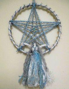 Yule Goddess Freya Handmade Pagan Doll With Snowflake Winter Solstice Pentacle