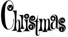 vintage christmas graphics in black and white | The ghost of Christmas clip art