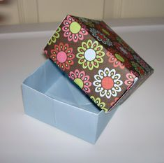My Grandma and I used to make these paper boxes out of greeting cards all the time!