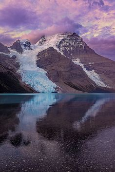 Heart of the Mountain by Wayne Boland on Flickr. Berg Lake - British Columbia, #Canada