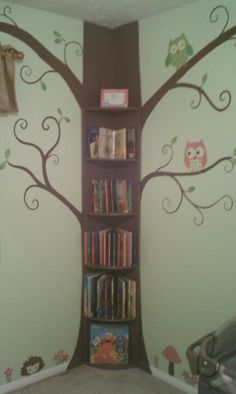 Tree bookshelf I made for my grandchildren room.