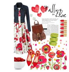 fall in spring love by zeynepciim on Polyvore featuring polyvore, fashion, style, Dolce&Gabbana, LE3NO, London Rebel, John Lewis, Kate Spade, The Cellar, L'Oréal Paris and clothing