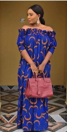 Fascinating ankara designs to rock this week - DarlingNaija Latest Ankara Gown, Ankara Short Gown Styles, Short Gowns, Ankara Gowns, Ankara Dress, African Fashion Ankara, Latest African Fashion Dresses, African Print Fashion, Long African Dresses