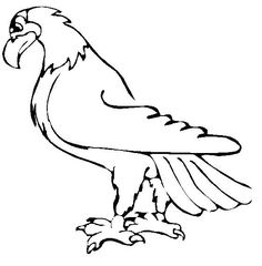 An American Symbol, the Eagle - Free Printable Coloring and Activity Pages. Click for more fun pages for kids.