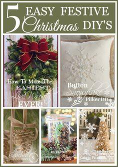 5 EASY CHRISTMAS DIY'S - StoneGable