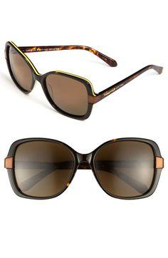 kate spade new york oversized polarized sunglasses | Nordstrom