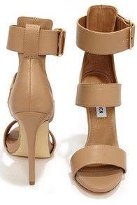Sexy Nude Heels - Ankle Strap Heels