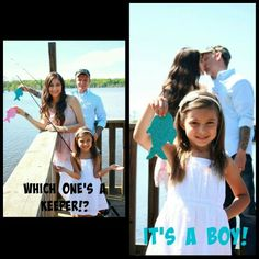 Our fishing themed gender reveal photo
