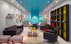 Tetos decorados - veja modelos de sancas, cores, iluminação e muito mais!