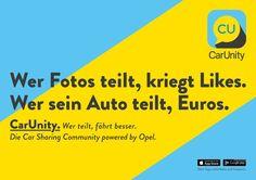 #CarUnity #CarSharing #Opel #ScholzandFriends #werteiltfaehrtbesser #kampagne #carsharingcommunity #carsharingapp