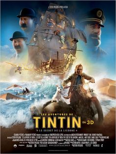 Directed by Steven Spielberg. With Jamie Bell, Andy Serkis, Daniel Craig, Simon Pegg. Intrepid reporter Tintin and Captain Haddock set off on a treasure hunt for a sunken ship commanded by Haddock's ancestor. Simon Pegg, 2011 Movies, Hd Movies, Movies Online, Movie Tv, Films Cinema, Cinema Tv, Daniel Craig, Movies And Series