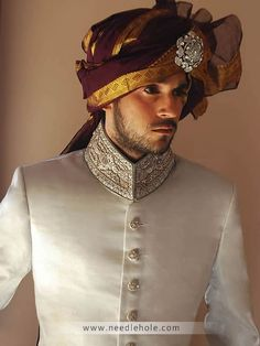 Amir adnan men's wedding sherwani and sherwani suits. Pakistani sherwani collection and indian men's sherwani suits collection by amir adnan sherwani stores in new york Indian Groom Wear, Indian Wedding Wear, India Wedding, Pakistani Wedding Dresses, Wedding Men, Wedding Suits, Wedding Styles, Wedding Ideas, Sherwani Groom